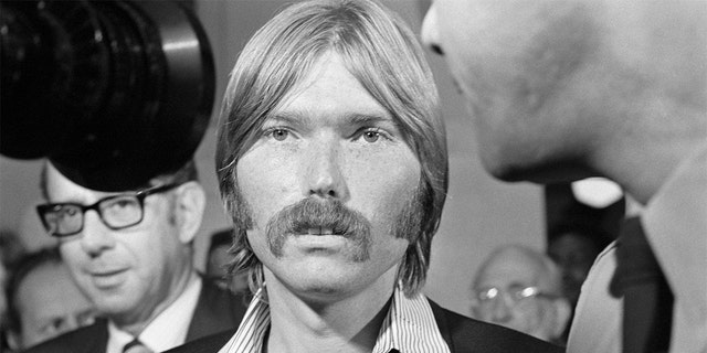 Terrence P. 'Terry' Melcher, the 27-year-old son of actress Doris Day, attends the Los Angeles County grand jury probe into the Sharon Tate murder case. The actress and four other people were murdered at the Tate home, and the Manson 'family' was eventually found guilty.