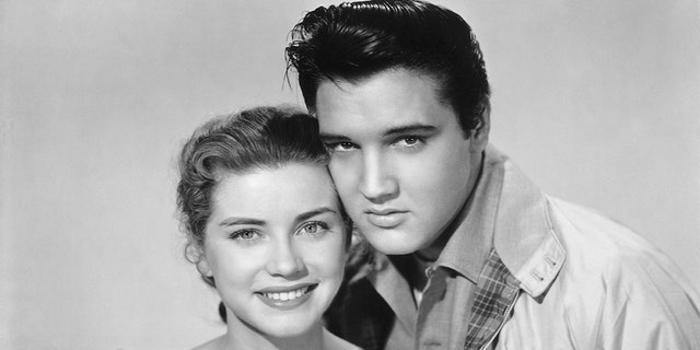 "Dolores Hart and Elvis Presley starred together in 1957's ""Loving You"" and 1958's ""King Creole."""