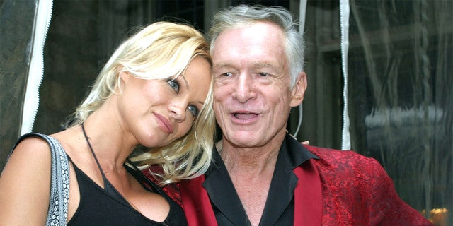 Pamela Anderson and Hugh Hefner.