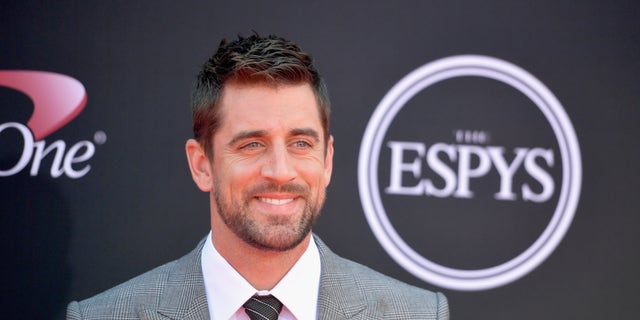Green Bay Packers quarterback Aaron Rodgers says he will guest host 'Jeopardy' after the playoffs end. (Photo by Matt Winkelmeyer/Getty Images)