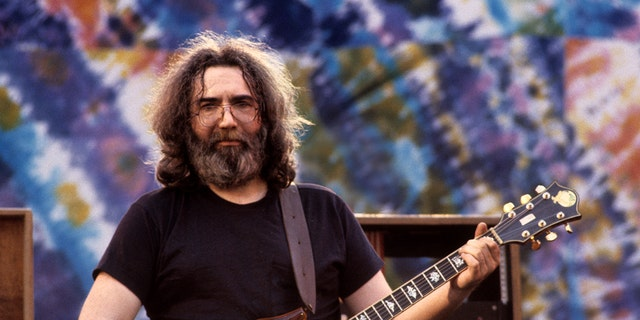 Jerry Garcia performs with the Grateful Dead at the Greek Theater in Berkeley, Calif., on May 22, 1982. (Photo by Clayton Call/Redferns)