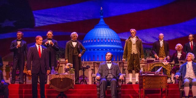 "The Hall of Presidents was listed as being ""closed for refurbishment"" Wednesday."