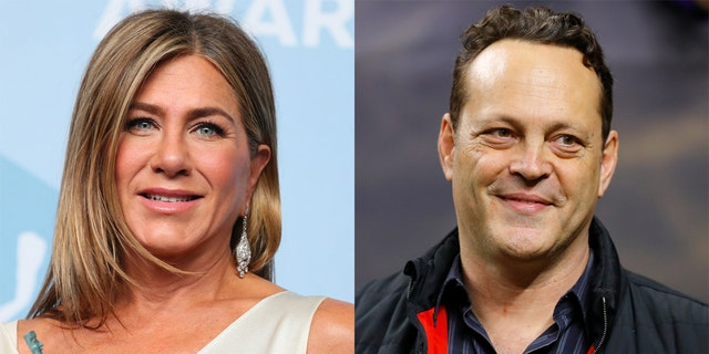 Jennifer Aniston (left) dated Vince Vaughn, who co-starred with her in 'The Break-Up.'