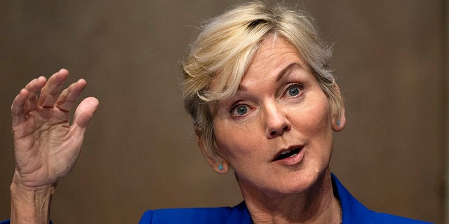 Former Gov. Jennifer Granholm, D-Mich., Testified before the Senate Energy and Natural Resources Committee during a hearing to examine her nomination for energy secretary, Wednesday, January 27, 2021 at Capitol Hill in Washington.  (Jim Watson / Pool via AP)