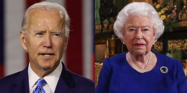 Queen Elizabeth II of England sent a private letter to President Joe Biden (left).