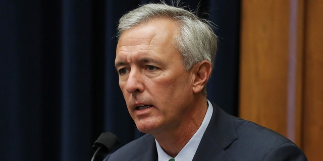 Rep. John Katko, a Republican from New York, speaks during a House Homeland Security Committee security hearing in Washington, D.C., U.S., on Thursday, Sept. 17, 2020. Minority Leader Kevin McCarthy, R-Calif., opposes Katko's compromise with Democrat Rep. Bennie Thompson of Mississippi to create a commission to investigate the Jan. 6 attack on the Capitol by a mob of Trump supporters. Nevertheless, about two dozen House Republicans are expected to vote for the bill. (Chip Somodevilla/Getty Images/Bloomberg via Getty Images)