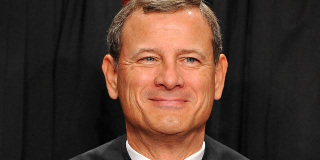 """""""Chief Justice John Roberts said:""""It's like a game of Jenga. (Photo by Bill O'Leary/The Washington Post via Getty Images)"""