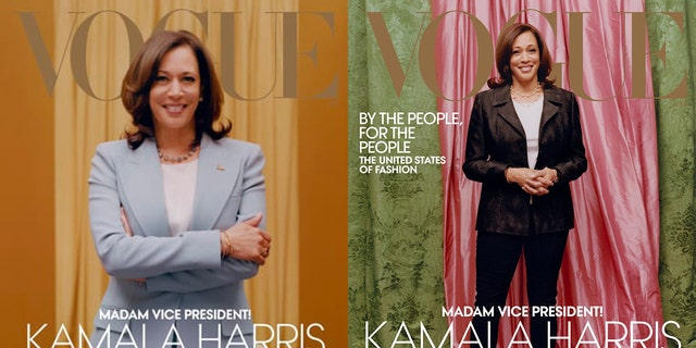 Two Vogue magazine covers have been revealed featuring Vice President-elect Kamala Harris, with the image on the right sparking controversy.