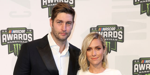 Jay Cutler and Kristin Cavallari posed for a photo together almost nine months after announcing their split. (Getty Images)