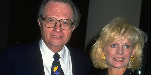 Larry King and wife Sharon.