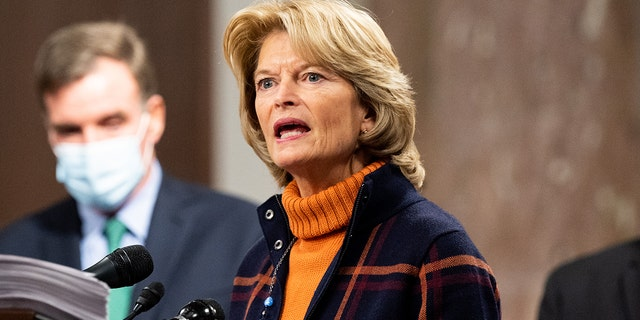 December 14, 2020 - Washington, DC, United States: U.S. Senator Lisa Murkowski (R-AK) speaking at a press conference to introduce a bipartisan and bicameral COVID relief bill. (Photo by Michael Brochstein/Sipa USA)No Use UK. No Use Germany.
