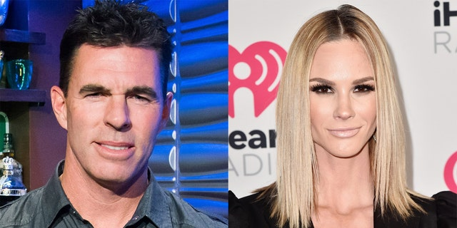 Meghan Kim (对) said that her divorce from Jim Edmonds (剩下) has been delayed due to 'covid courts.'