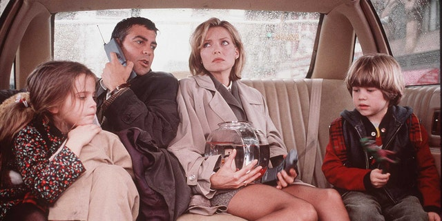 George Clooney and Michelle Pfeiffer co-starred in the 1996 movie 'One Fine Day.'