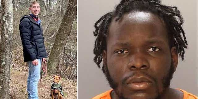 Milan Loncar, left, photographed with his rescue dog, Roo. Davis L. Josephus, right, is accused of fatally shooting Loncar while he was out walking his dog in Brewerytown, Philadelphia, on Jan. 13.
