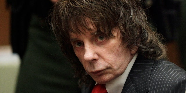 "In this May 29, 2009 file photo, music producer Phil Spector sits in a courtroom for his sentencing in Los Angeles. Spector, the eccentric and revolutionary music producer who transformed rock music with his ""Wall of Sound"" method and who was later convicted of murder, died Saturday, Jan. 16, 2021, at age 81."
