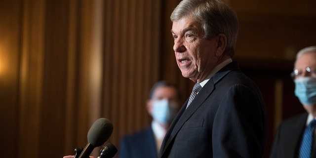 Sen. Roy Blunt, R-Mo., speaks during a news conference Dec. 15, 2020 in Washington. (Getty Images)