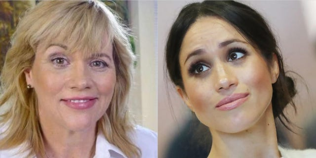 Samantha Markle (left) has written a book that will be released this month, partly written by her estranged half-sister Meghan Markle (right) Speak.