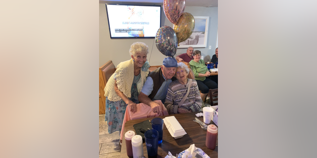 Rita Thomas (권리) celebrating her 95th birthday with friends and loved ones in February of 2020 (Photo courtesy of the Thomas family).