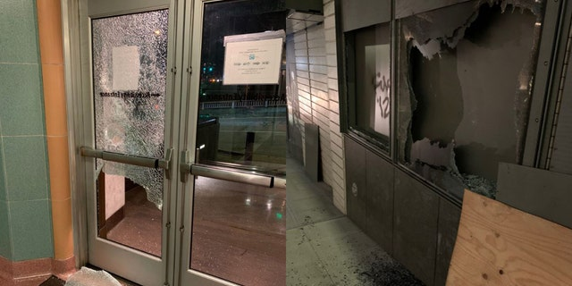 Protesters in Seattle on Wednesday caused damage to a local courthouse and vandalized multiple sites in the city, police said.
