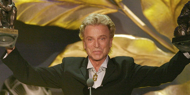 "FILE - German illusionist Siegfried Fischbacher of the duo "" Siegfried & Roy"" died in January of 2021 at age 81."