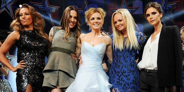 The Spice Girls in 2012 (left to right): Mel B, Melanie C, Geri Halliwell, Emma Bunton and Victoria Beckham. (Photo by Dave M. Benett/Getty Images)