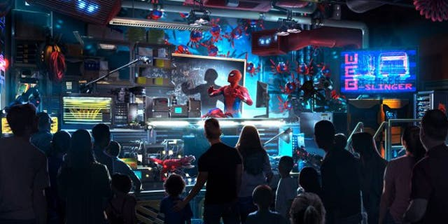 """""""Through specially designed, innovative technology that recognizes body movements and gestures, you will reach out your hands and sling webs from your wrists, just like Spider-Man,"""" elaborated Disney Parks in a blog post."""