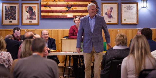 Rep. Tom Emmer of Minnesota, the chair of the National Republican Congressional Committee, on the campaign trail.