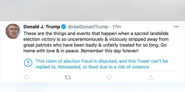Tweet January 6, 2020