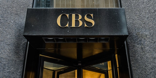 The main entrance to CBS (Columbia Broadcasting System) headquarters in New York City on Jan. 10, 2020. (Photo by Erik McGregor/LightRocket via Getty Images)