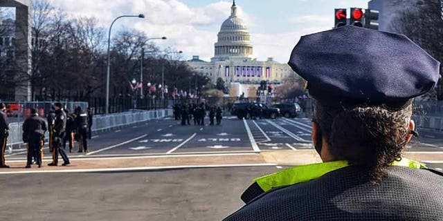 The Washington Metropolitan Police Department shared this photo on Facebook on Jan. 22 showing police presence surrounding the U.S. Capitol two days after the inauguration.