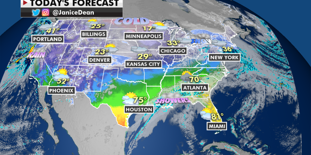 The national forecast for Tuesday, Jan. 26. (Fox News)