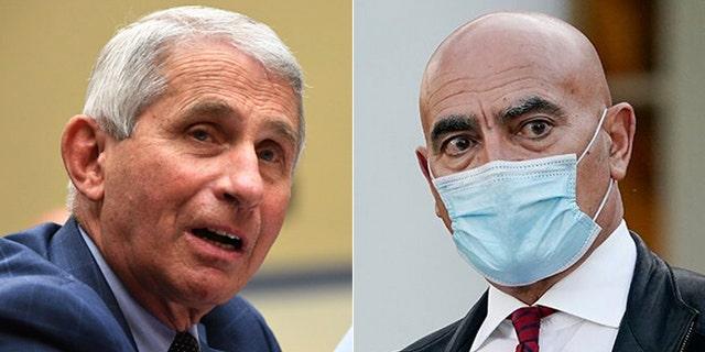 Dr. Anthony Fauci and Dr. Moncef Slaoui (AP Photos)