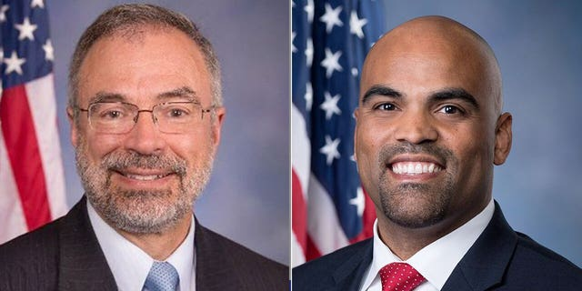 Rep. Andy Harris, R-Md., left, and Rep. Colin Allred, D-Texas.