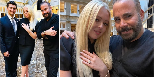 Diamond dealerSamer Halimeh shared pictures with the newly-engaged Tiffany Trump and Micaehl Boulos.