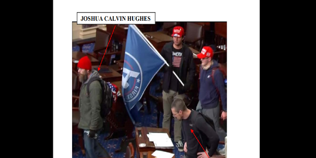 Both men later seen on the U.S. Senate floor, according to prosecutors. (U.S. District Court for the District of Columbia)