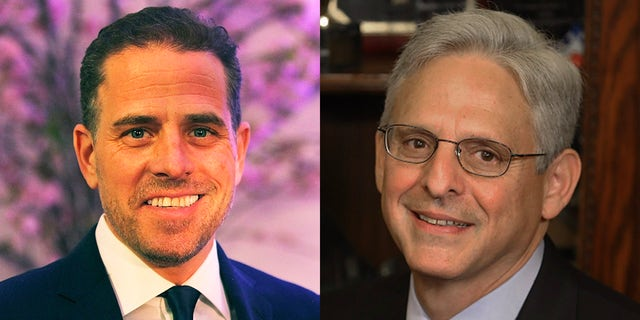 A federal investigation into Hunter Biden, left, will be addressed during Senate confirmation hearings for Merrick Garland, President Biden's nominee for U.S. attorney general, according to a spokesman for U.S. Sen. Chuck Grassley. (Getty Images)
