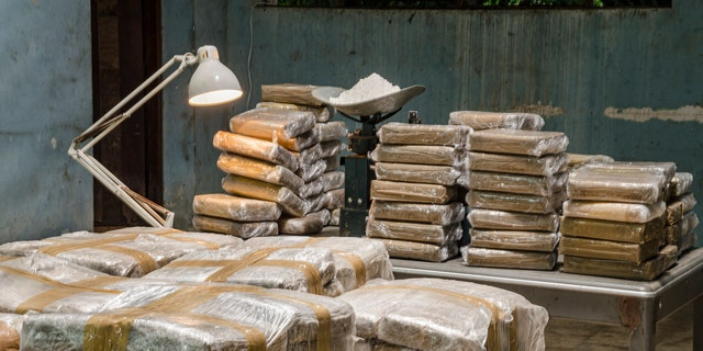 A stock image of illegal drug production.