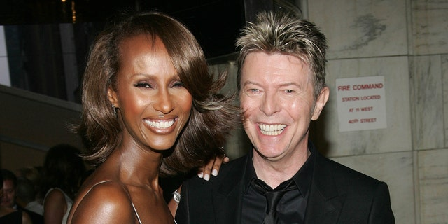Iman, left, and the late David Bowie are the parents of Lexi Jones. (Getty Images)