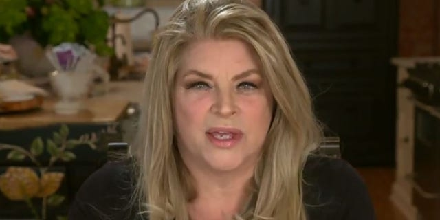 "Kirstie Alley speaks on ""Hannity"" in October."