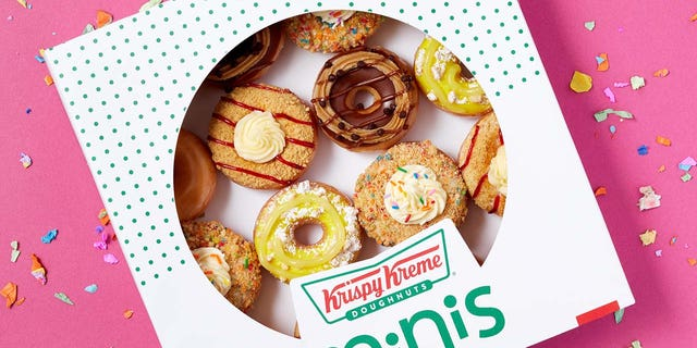 """""""As we begin 2021 determined for a better year, Krispy Kreme wants all our fans to remember that no accomplishment is too small to celebrate. And what better way to reward your """"mini wins"""" than with mini doughnuts?"""" Krispy Kreme says."""