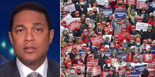 CNN host Don Lemon tied Trump voters to neo-Nazis and members of the Klu Klux Klan.