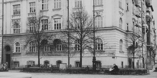 14 Prinzregent Platz, Munich, where Alice Frank Stoke lived as a child.  Alice spent more than a decade living in the same apartment building as Adolf Heather when she was young.  (Credit: SWNS)