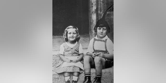 Alice Stock Frank, 3 years old, with her brother Richard, 6 years old (Credit: SWNS)
