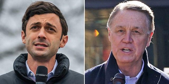 Democratic challenger Jon Ossoff and GOP Sen. David Perdue, the two candidates in Georgia's Senate runoff election