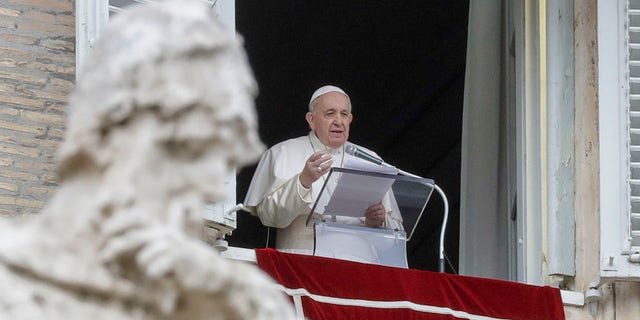 Pope Francis announced on Saturday that he planned to get a COVID-19 shot next week. (AP Photo/Andrew Medichini, File)