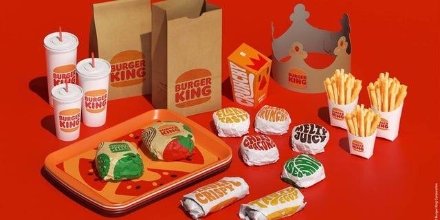 Burger King's rebranded food packaging, pictured.