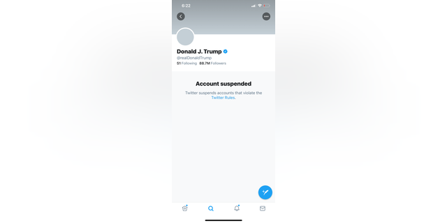 A screengrab of President Trump's Twitter page Friday