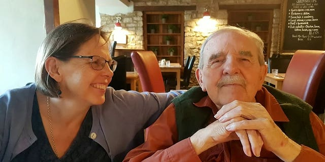 After 10 months apart due to the coronavirus pandemic, Dr. Anne Hampton recently vaccinated her father, Chris, against the viral disease.