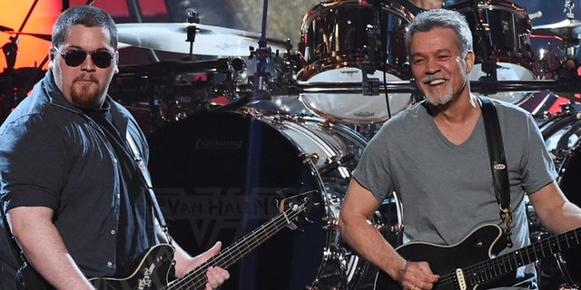 Wolfgang Van Halen (left) spoke out about his father Eddie Van Halen's (right) brief tribute during the 2021 Grammy's 'In Memoriam' segment.