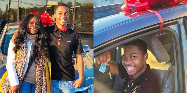 Myers says she first encountered Sutton while he was walking to his job back in December. A month later, the teen has been gifted a new vehicle.